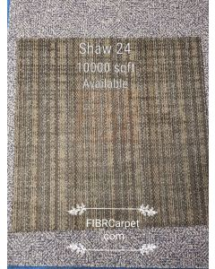"Like New Shaw  Ecoworx 24"" Brown Pattern Commercial Nylon Loop Carpet Tile"