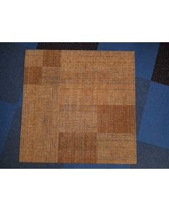 3'x3' Recycled Milliken Tan Pattern Foam Backed Commercial Nylon Carpet Tiles