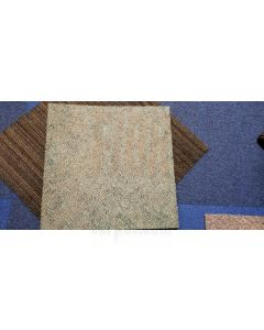 "Bargain Grade 2 Commercial Carpet tile 18"" 2 styles .22 sqft"