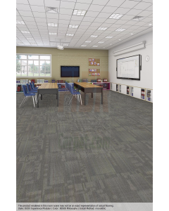 """New Shaw Experience 24"""" Commercial Carpet Tiles Rubber Backed"""
