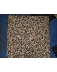 3'x3' Recycled Milliken Blue Grey Pattern Foam Backed Commercial Nylon Carpet Tiles
