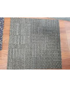 Recycled 20x20 Brown Grey Small Pattern Rubber Backed Commercial Nylon Carpet Tiles