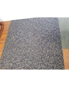 3'x3' Recycled Milliken Blue Pattern Foam Backed Commercial Nylon Carpet Tiles
