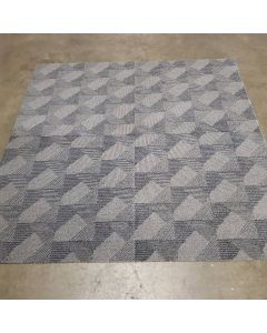 3'x3' Recycled Milliken Dark Neutral Pattern Foam Backed Commercial Nylon Carpet Tiles