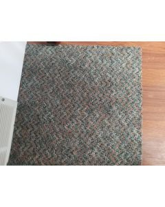 "Recycled 20""x20"" Dark Mix Rubber Backed Commercial Carpet Tiles"