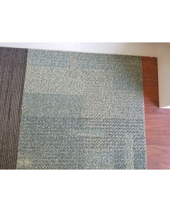Recycled 18x18 Shaw Industry Rubber Backed Commercial Nylon Carpet Tiles
